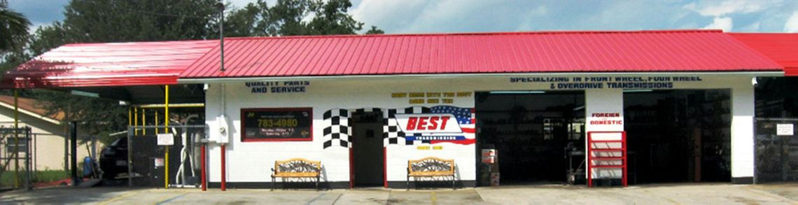 Outdoor shot of transmission maintenance shop Best Transmission in Jacksonville, FL
